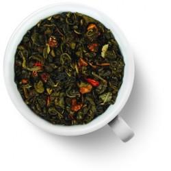 Чай зелёный Земляника со сливками (ганпаудер)