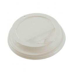 Крышка для стакана белая с клапаном диаметр 90мм
