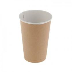 Бумажный стакан для кофе 400 мл крафт