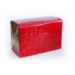 Салфетки Красные 24*24 однослойные упаковка 400шт