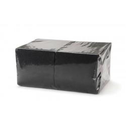 Салфетки Черные 24*24 однослойные упаковка 400шт