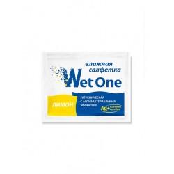 Салфетка Влажная Гигиеническая Wet One Лимон в индивидуальной упаковке антибактериальная