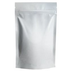 Пакет дой-пак бумажный крафт с замком зип-лок Белый 150х240мм