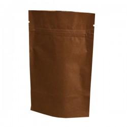 Пакет дой-пак бумажный крафт с замком зип-лок Коричневый 100х160мм