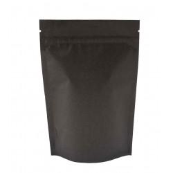 Пакет дой-пак бумажный крафт трехслойный с замком зип-лок Чёрный 120х185