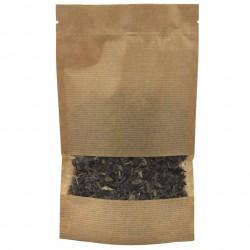 Пакет дой-пак бумажный крафт с прозрачным окошком 40 мм с замком зип-лок 105х150