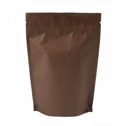 Пакет дой-пак бумажный крафт с замком зип-лок Темно-Коричневый 110х195