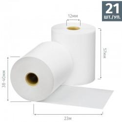 Чековая лента из термобумаги 57 мм, диаметр 38-40 мм