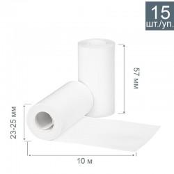 Чековая лента из термобумаги 57 мм, диаметр 23-25 мм