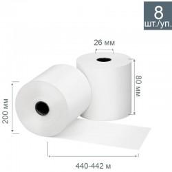 Чековая лента из термобумаги 80 мм, диаметр 200 мм