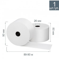 Чековая лента из термобумаги 80 мм, диаметр 90 мм