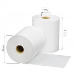 Чековая лента из термобумаги 57 мм, диаметр 12 мм