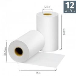 Чековая лента из термобумаги Promega jet 57 мм, диаметр 35-36 мм