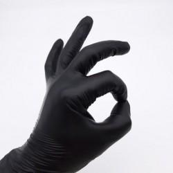 Перчатки виниловые неопудренные черные M упаковка 100шт
