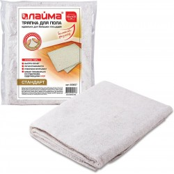 Тряпка для мытья пола ЛАЙМА стандарт, 80х100 см, 100% хлопок