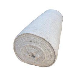 Тряпка для пола в рулоне, белая, ПРЕМИУМ, холстопрошивное полотно, 80 см х 50 м, строчка 2,5 мм