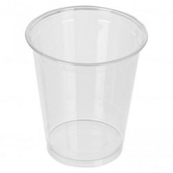 Пластиковые стаканы без крышки, 400 мл пэт (плотный пластик)