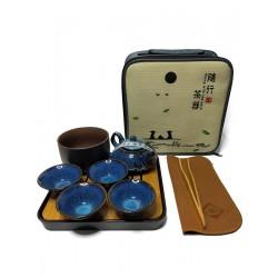 Керамическая посуда в наборе Походный для чайной церемонии, глазурь