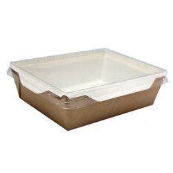 Бумажный контейнер с прозрачной крышкой 400мл