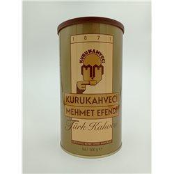 Кофе молотый Kurukahveci Mehmet Efendi жестяная банка 500 гр
