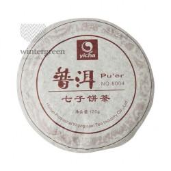 Шу Пуэр (Блин) 8004, 125 гр Фабрика Хуннань Ти Компани 2008 г.